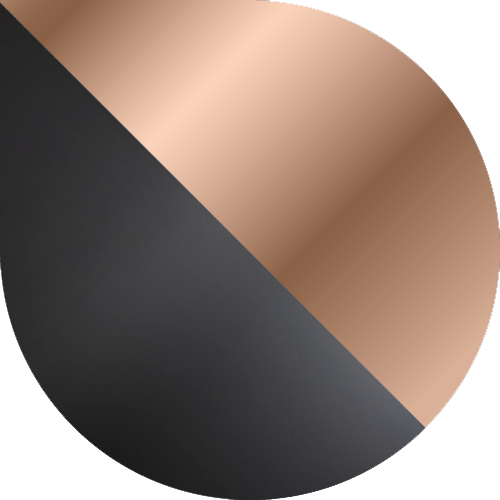 różowe złoto-czarny
